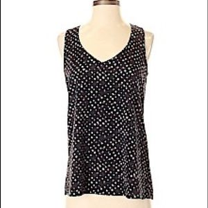 Eclair by Nordstrom Blouse XS Black w/ Polka Dots